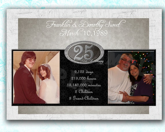 25th Anniversary Gift 25th Wedding By PartyPrintExpress On Etsy