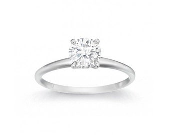 0.48 Carat Lab Grown Diamond Solitaire Ring, Round Brilliant Lab Grown Diamond Engagement Ring, Lab Grown Diamond  Engagement Ring