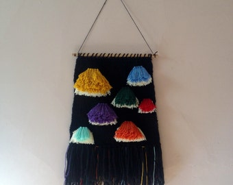 Large Handwoven wall hanging - 'An enemy anemone'