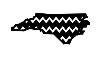 Chevron North Carolina Bundle SVG DXF Design