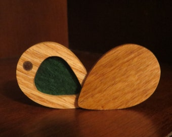 Pick Holder, Pick Box, Canary Wood, Hand made, Holds up to 5 picks