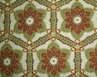 Verona Fabric - Olive Mosaic
