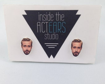 Ryan Gosling Handmade Earrings