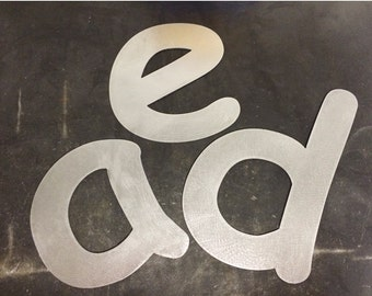 "Metal Lower Case Letters 10"" and 7"""