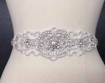 Beaded Belt, Rhinestone Belt, Crystal Bridal Sash, Bridal Lace Belt,  Bridal Belt, Best Friend Bridal 103