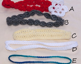 Newborn to Adult Crochet Headband