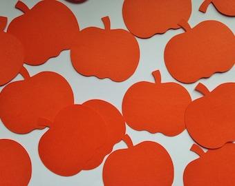"""Orange Pumpkin Die Cuts (2.5"""" wide), Orange Paper Pumpkins, Halloween Party Decor"""