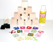 Wooden baby blocks made for the little one in by for Child craft wooden blocks