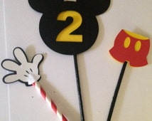 Mickey Mouse Clubhouse Picks Centerpiece Table Decorations , Mickey Mouse Birthday Party Decorations