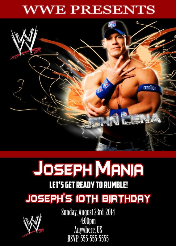 Wwe Birthday Invitation Templates as Nice Layout To Make Fresh Invitation Template