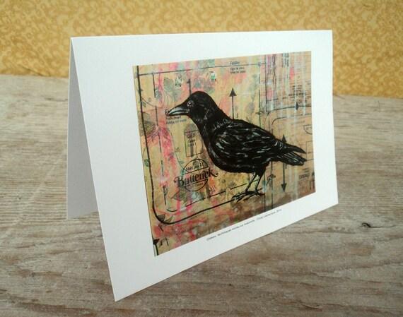 Bird blank greeting card