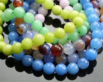 JADE Faceted Round 10mm -Full Strand 15.5 inch Strand,