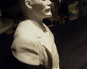 Lenin vintage antique porcelain bust porpaganda