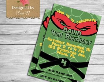 Ninja Turtles Birthday Invitation with beautiful invitation ideas