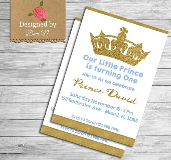 Prince birthday party invitation glitter sparkle printable invite il570xn filmwisefo
