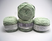 Set of 4 balls - 100 % cotton yarn, hand dyed/balled, 4 x 50g double knitting balls, - Pale Sage