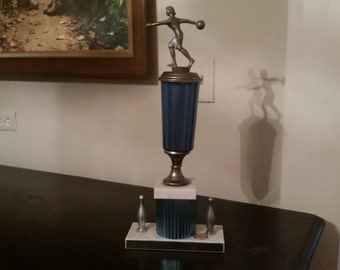 Vintage Bowling Trophy from the 70s