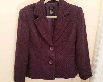 Vintage Blazer Grape Purple Blazer by R.Q.T. Size 12