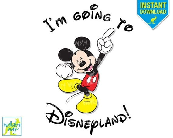 I'm Going to Disneyland Printable Iron On Transfer with