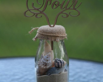 Wooden Table Numbers - with stand