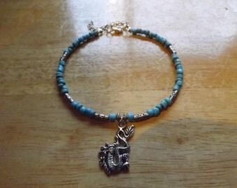 Turqoise Dragon Charm Anklet Ankle Bracelet
