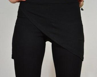 Yoga leggings in black/ skirt leggings/ sport leggings/ long leggings.