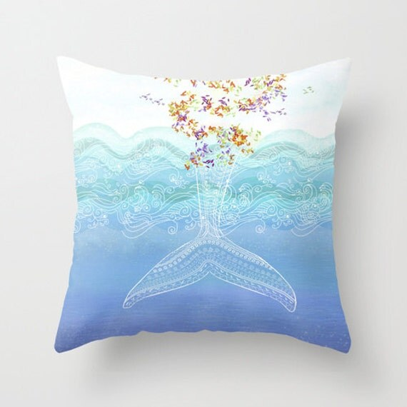Throw Pillow Insert : Decorative throw pillow . Cover or insert 16x16 18x18 by Narais
