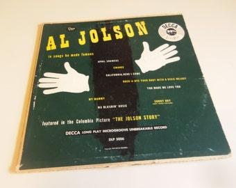 "1949 Al Jolson 10"" LP record album"