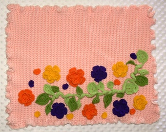 Spring Package Photo Props - Crocheted Blanket, Vine and Flowers