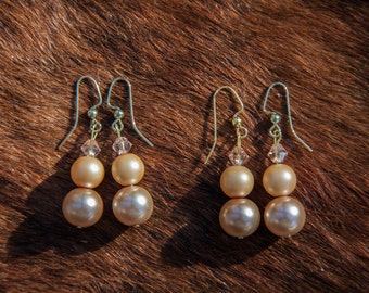 Pearls & Swarovski Crystal Earrings
