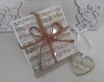 READY TO SHIP,Music Notes Coaster, Music teacher gift, Piano, Music Lover, Piano Teacher, Teacher Gift, Teacher Appreciation