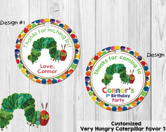 Very Hungry Caterpillar Favor Tag