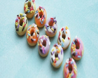 sprinkle donut earrings-food jewelry, miniature food, dessert earrings