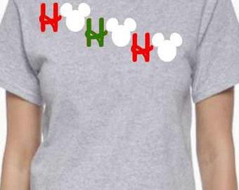 Mickey or Minnie Inspired Ho Ho Ho Shirt