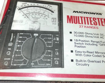 Micronta Multitester - 27 Ranges