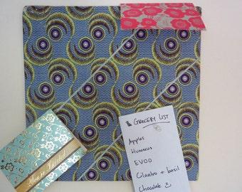Corkboard/Message boards in bright African fabrics