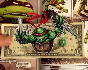 Raphael painted on a one dollar bill.