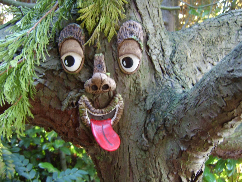Tree Face Garden Sculpture A Handmade Statue By