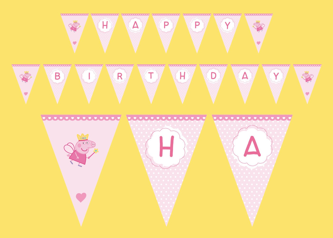 Peppa Pig Banner Birthday Peppa Pig party by PaperPartyDesign