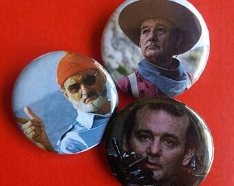 Bill Murray Pinback Buttons