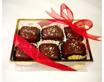 Sea Salted Belgian Chocolate Caramels