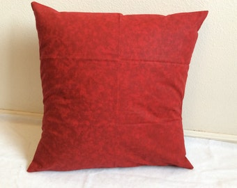 Red, Christmas, texture, toss pillow, throw pillow cover, 16 X 16, bedroom, removable, washable