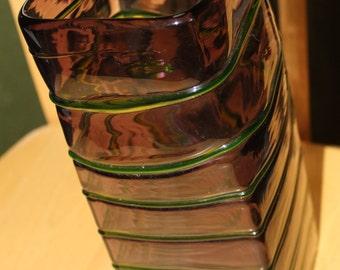 10 Inch Square Vase, Beautifully Designed, Home Decor