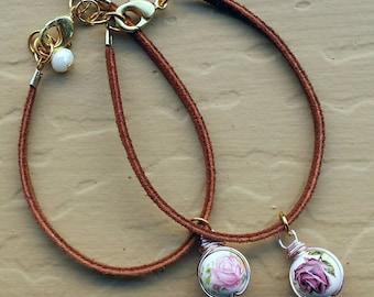 Rose Suede Bracelet