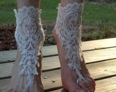 Barefoot Sandals, Lace Sandals, Beach shoe, Shoe Enhancer, Wedding Shoe, Wedding Anklet, Boho Sandal