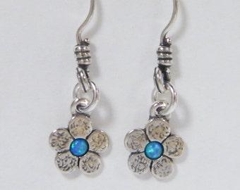 SHABLOOL earrings,sterling Silver 925 Earrings with opal stone e1916