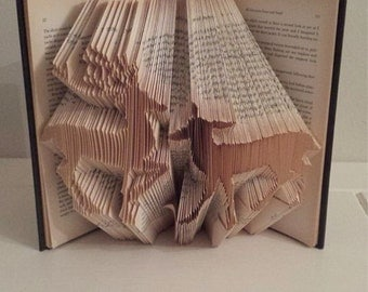 Book Folding Pattern for a pair of Deer +FREE TUTORIAL