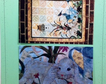SIGNS OF SPRING Quilt Pattern by Seams Like Home (Joan Jones) applique pieced birdhouse rabbit