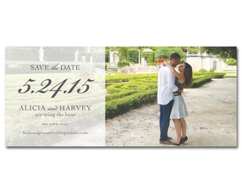 "Wedding Save-the-Date 9.25""x4"" - Panoramic Photo - Printable and Personalized"