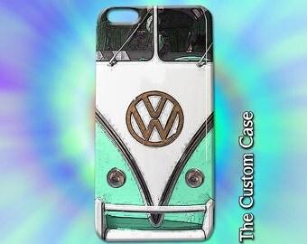VW Van Iphone Case, Vintage Camper Van Iphone Case, Retro Van Case, Iphone 4/5/5c/6/6+/6s, Galaxy S3/S4/S5/S6/S6 Edge/6Edge+, Note 3/4/5